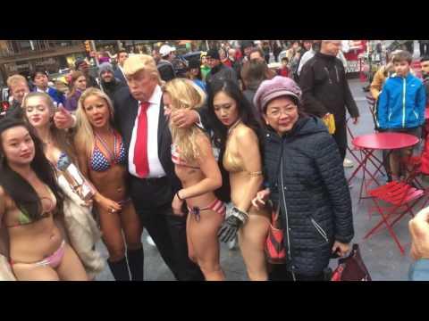 Xxx Mp4 Quot Donald Trump Quot In Times Square 10 25 16 3gp Sex