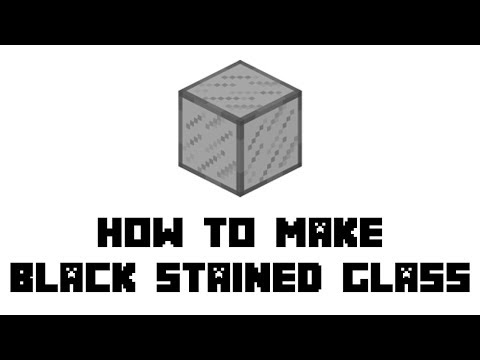 Minecraft Survival: How to Make Black Stained Glass