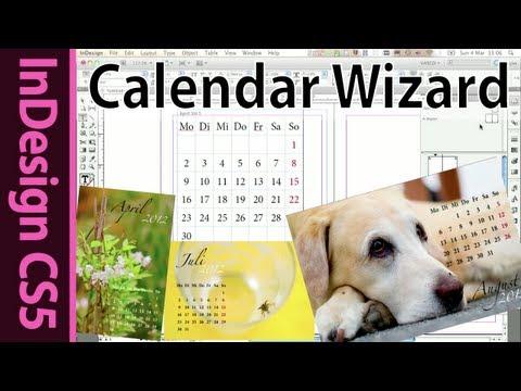 Indesign Calendar Wizard Tutorial (Foto book hack 2012)