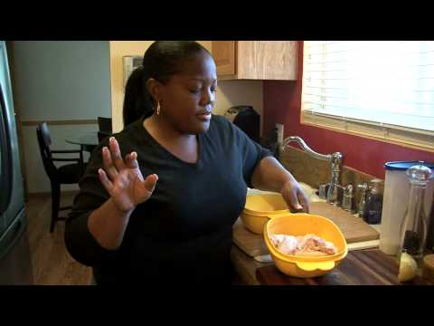 Part 1 - Fried Chicken Wings with Sauteed Greens (Cooking with Carolyn)