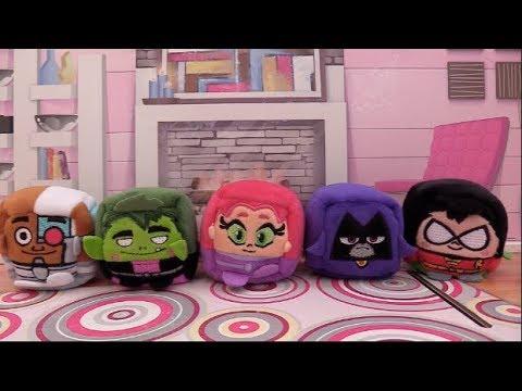 Teen Titans Go! Robin, Raven, Starfire, Beast Boy, Cyborg are Kawaii Cubes