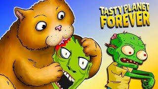КОТ ПРОГЛОТ СЪЕЛ ЗОМБИ и ЦЕЛЫЙ ГОРОД! Съедобная Планета Tasty Planet Forever от Cool Games
