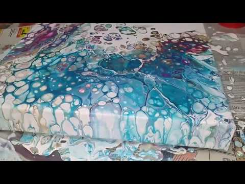 E11 Acrylic Pouring: Cobalt blue, Magenta, Burnt Umber, Flip Cup, Silicone, Floetrol