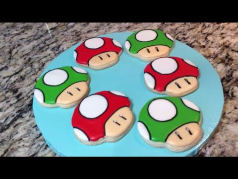 Power Up & 1 Up Mushroom Cookies From Super Mario(How To)