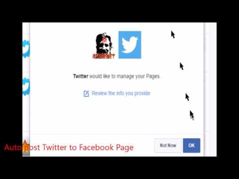 How to auto-post Twitter to Facebook; also auto-post Youtube to Twitter