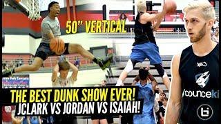 The CRAZIEST DUNK OFF EVER!? Absolutely UNREAL Dunks by JClark vs Jordan Kilganon vs Isaiah Rivera!