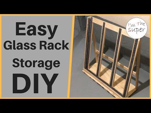 How To Make Glass Rack Storage