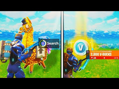 what happens AFTER opening a GOLD LOOT LLAMA in Fortnite: Battle Royale (NEW SEASON 4 UPDATE)