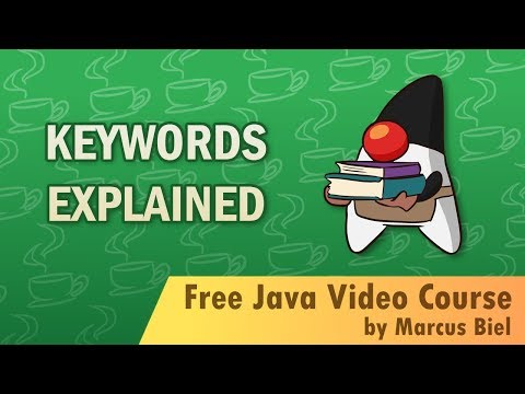 Java Tutorial for Beginners 1 - Basic keywords explained