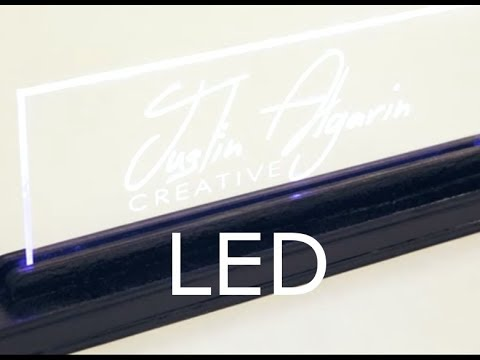 Laser Cut LED Light Stand Base Wood & Acrylic - Download File Free
