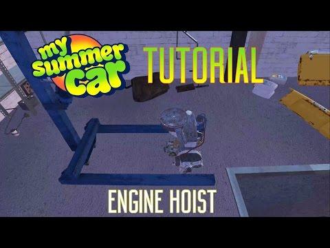 My Summer Car Tutorial | Engine Hoist