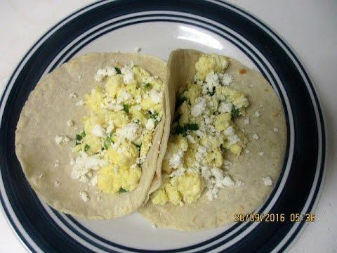 Granpa Santos' Recipe for Egg Tacos