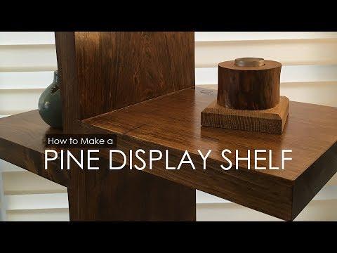 PINE DISPLAY SHELF