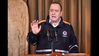 Presidente informó que el Toque de Queda será de 6 de la tarde a 5 de la mañana del día siguiente.