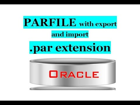9.What is PARFILE in EXPDP and IMPDP