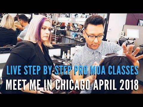 Learn How to Become a Working Professional Makeup Artist in my Chicago Makeup Seminars April 25-29th