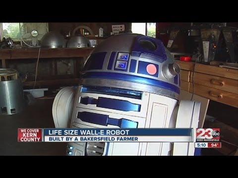 Bakersfield farmer built life size Wall-E robot from scratch