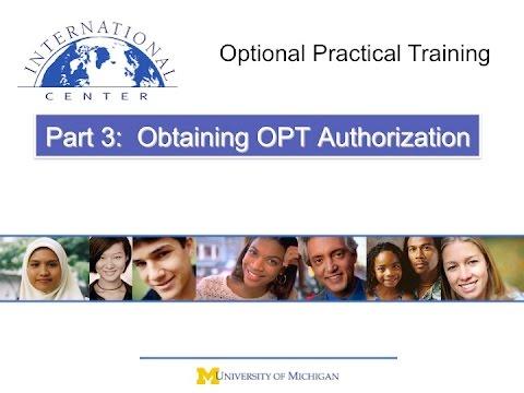 OPT - Part 3: Obtaining OPT Authorization