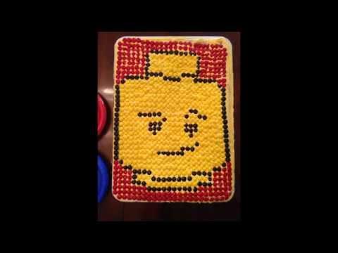 Lego Head Cake