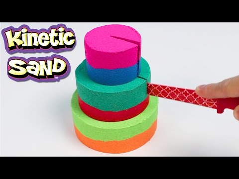 How to Make a 3 Layered Kinetic Sand Colored Cake!