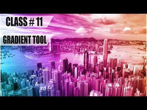 How To Add Gradient Photo Effects in Adobe Photoshop CC 2017 Full Training Course Class # 11
