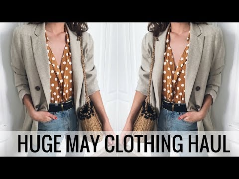 HUGE MAY CLOTHING HAUL & TRY ON 🌼🛍️ SHOPBOP, SHEIN, BERSHKA, & MORE