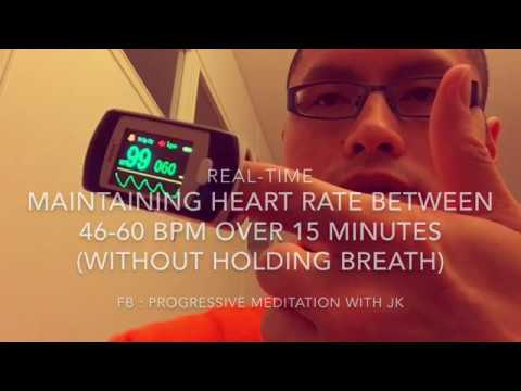 How to maintain heart rate 46 - 60 BPM over 15 mins (without holding breath)