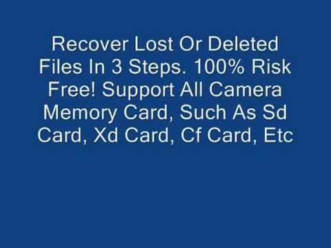 Recover deleted or lost photos from camera memory card
