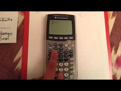 Using the TI-84 Plus Silver Edition for Summation!