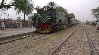 Pakistan Railways:46dn Pakistan Express arriving Alipur Chatta