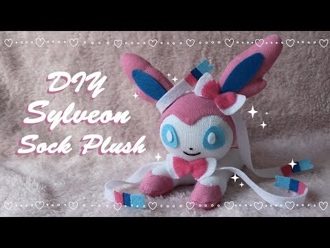 ❤ DIY Sylveon Sock Plush! How To Make A Cute Pokemon Eeveelution Plushie! ❤