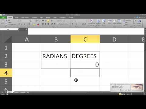 Excel convert radians to degrees