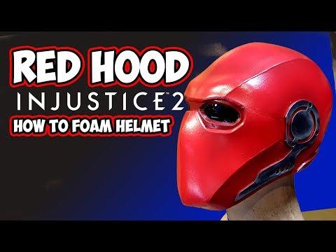 Redhood Injustice2 DIY foam helmet