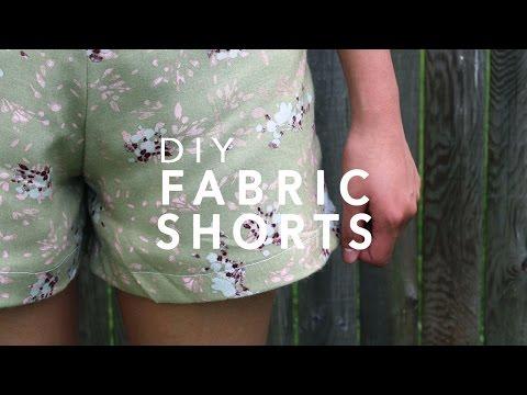 DIY Fabric Shorts