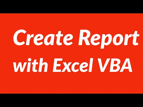 How to create report from Excel data sheet with VBA