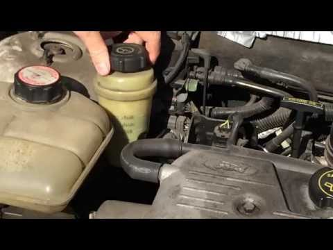 How To Check The Power a Steering Fluid Level On A Ford Focus
