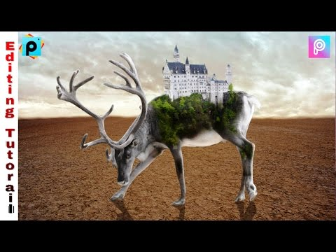 Deer Island Double Exposure Manipulation || Picsart editing Tutorial || Best Photo Editing