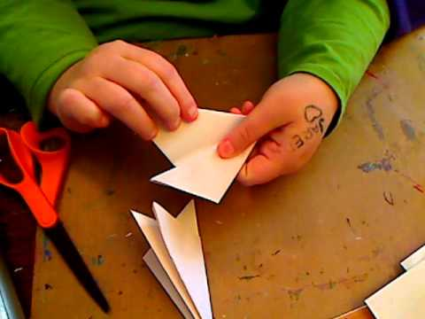 How to cut a snowflake out of printer paper for mixed media xmas piece