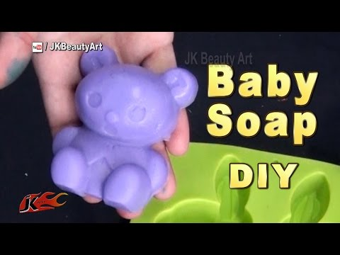How to make homemade Baby soap | Baby soap making recipe | JK Beauty Art 052