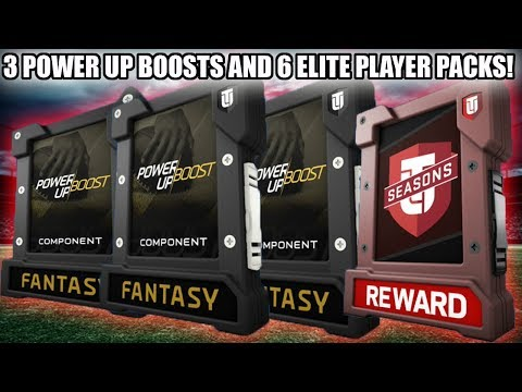 3 POWER UP BOOSTS AND 6 ELITE PLAYER PACK OPENING! GREAT PULLS! | MADDEN 18 ULTIMATE TEAM