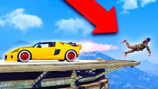 I LAUNCHED HIM OFF THE MAZE BANK! *HILARIOUS!* | GTA 5 THUG LIFE #172