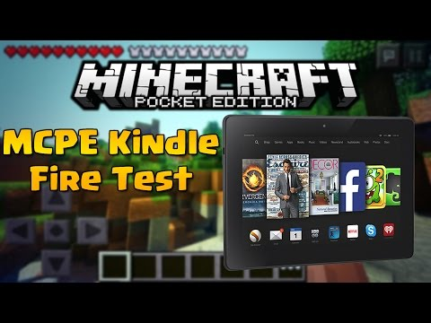 Minecraft PE (Pocket Edition) on a Kindle Fire!? - Kindle Fire Screen Record Test