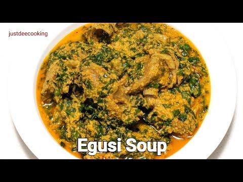 Nigerian Egusi Soup / How to make Egusi Soup / Melon Seed Soup