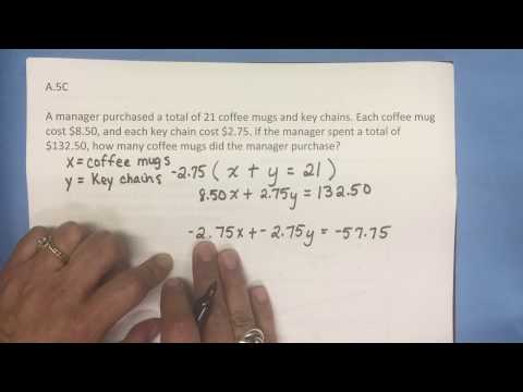 A.5C Solving Systems of Equations