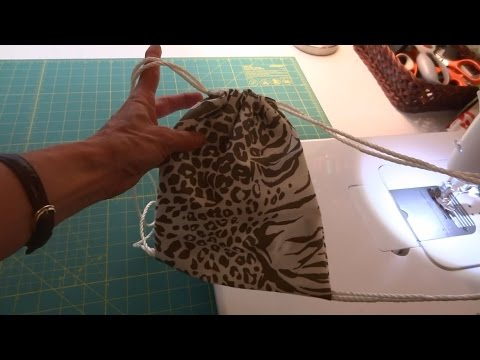how to make a simple drawstring backpack for a child