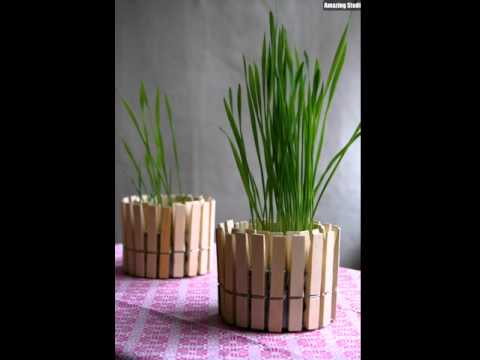 Clothespin Planter DIY Crafts