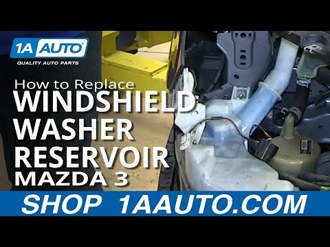How To Install Replace Leaking Windshield Washer Reservoir 2004-09 Mazda 3