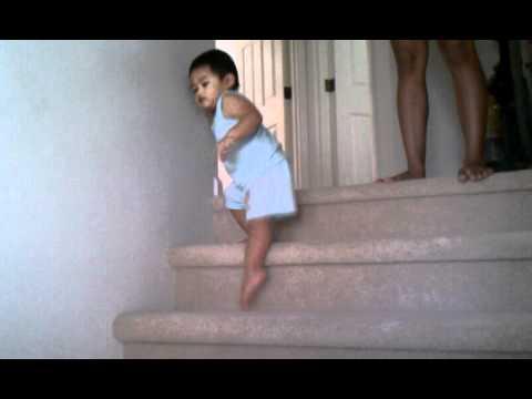 Baby walk down stairs
