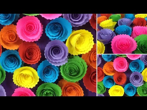 How to Make Beautiful Paper Rose Flower | Making Paper Flowers | DIY-Paper Crafts