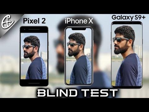 Galaxy S9 Plus vs iPhone X vs Pixel 2 Camera Comparison - BLIND TEST!